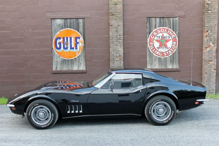 1971 Chevrolet Chevy Corvette Stingray Z26 Black Muscle Classic USA 4500x3000-01 wallpaper