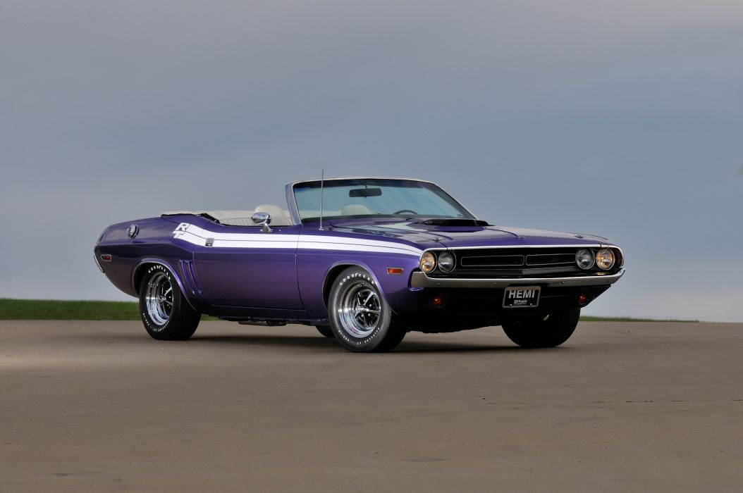 1971 Dodge Challenger RT Convertible Muscle Classic Old USA 4288x2848-04 wallpaper