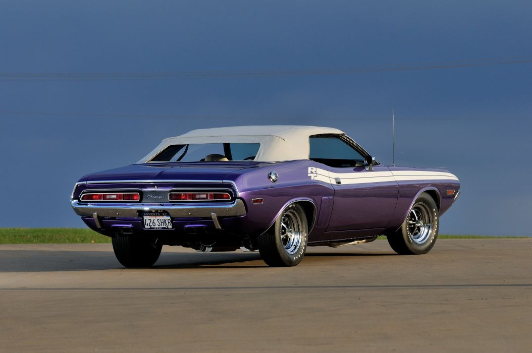 1971 Dodge Challenger RT Convertible Muscle Classic Old USA 4288x2848-03 wallpaper