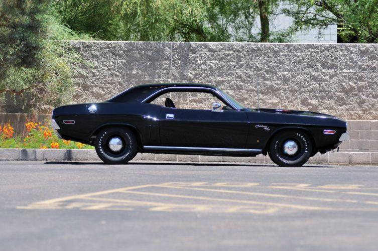 1971 Dodge Hemi Challenger RT MUscle Black Classic Old USA 4288x2848-02 wallpaper