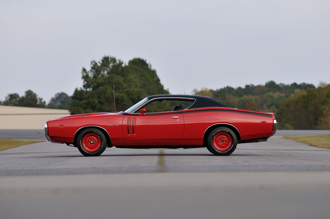 1971 Dodge Hemi Charger RT Pilot Car Red Muscle Classic Old USA 4288x2848-02 wallpaper