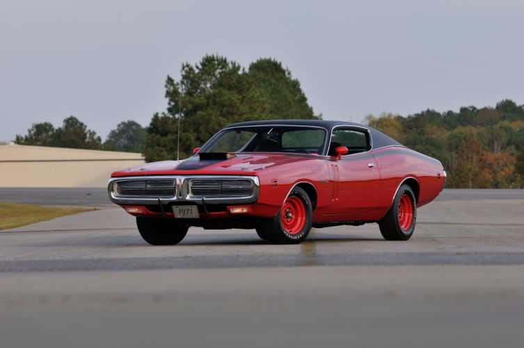 1971 Dodge Hemi Charger RT Pilot Car Red Muscle Classic Old USA 4288x2848-01 wallpaper