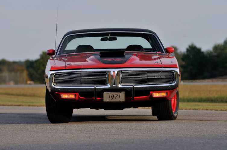 1971 Dodge Hemi Charger RT Pilot Car Red Muscle Classic Old USA 4288x2848-04 wallpaper
