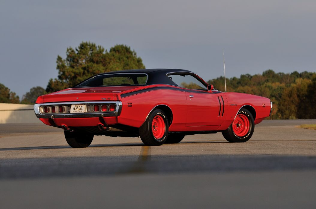 1971 Dodge Hemi Charger RT Pilot Car Red Muscle Classic Old USA 4288x2848-03 wallpaper