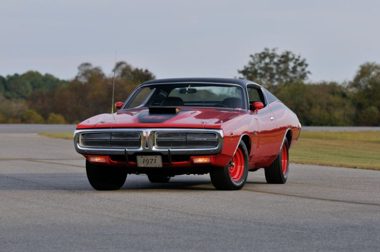 1971 Dodge Hemi Charger RT Pilot Car Red Muscle Classic Old USA 4288x2848-06 wallpaper
