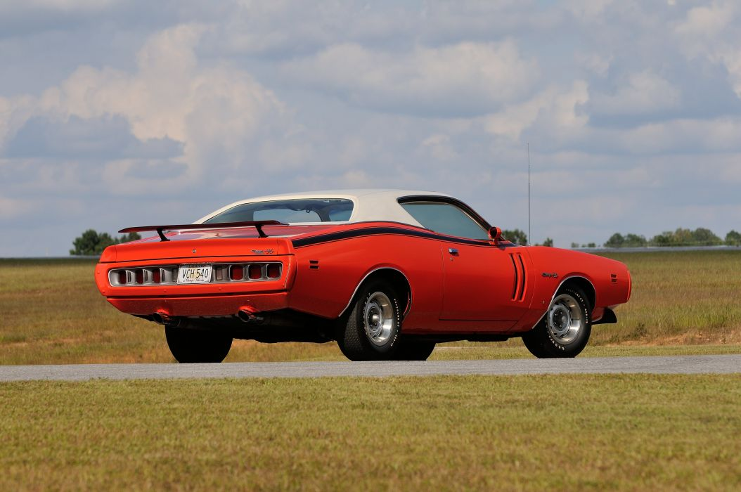 1971 Dodge Hemi Charger RT Sunroof Red Muscle Classic Old USA 4288x2848-03 wallpaper