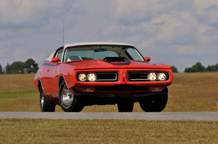1971 Dodge Hemi Charger RT Sunroof Red Muscle Classic Old USA 4288x2848-05 wallpaper
