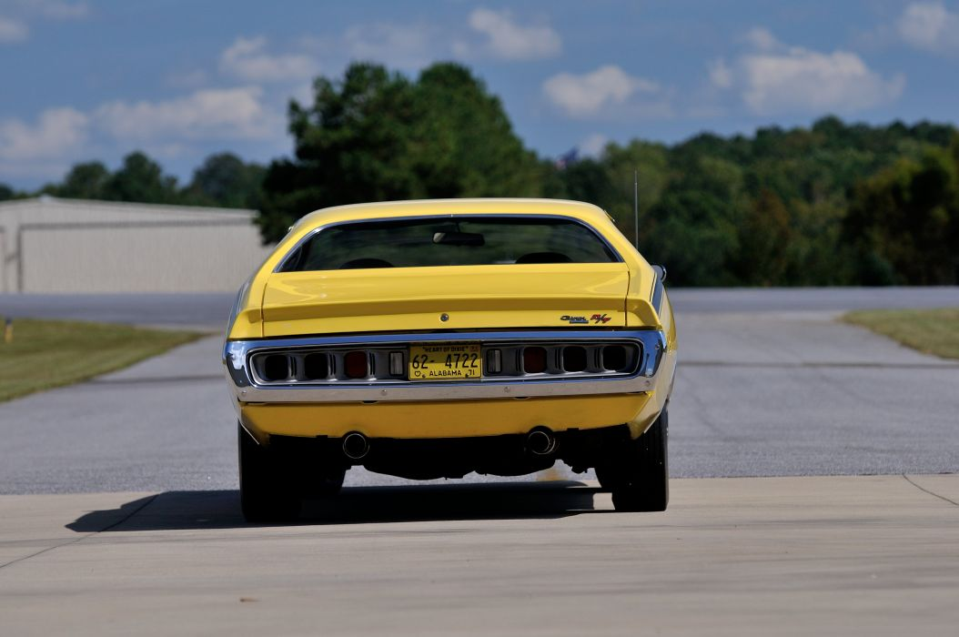 1971 Dodge Hemi Charger RT Yellow Muscle Classic Old USA 4288x2848-06 wallpaper