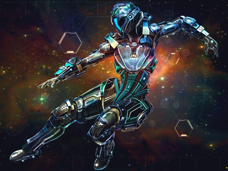 sci-fi women warrior woman girl girls futuristic artwork wallpaper