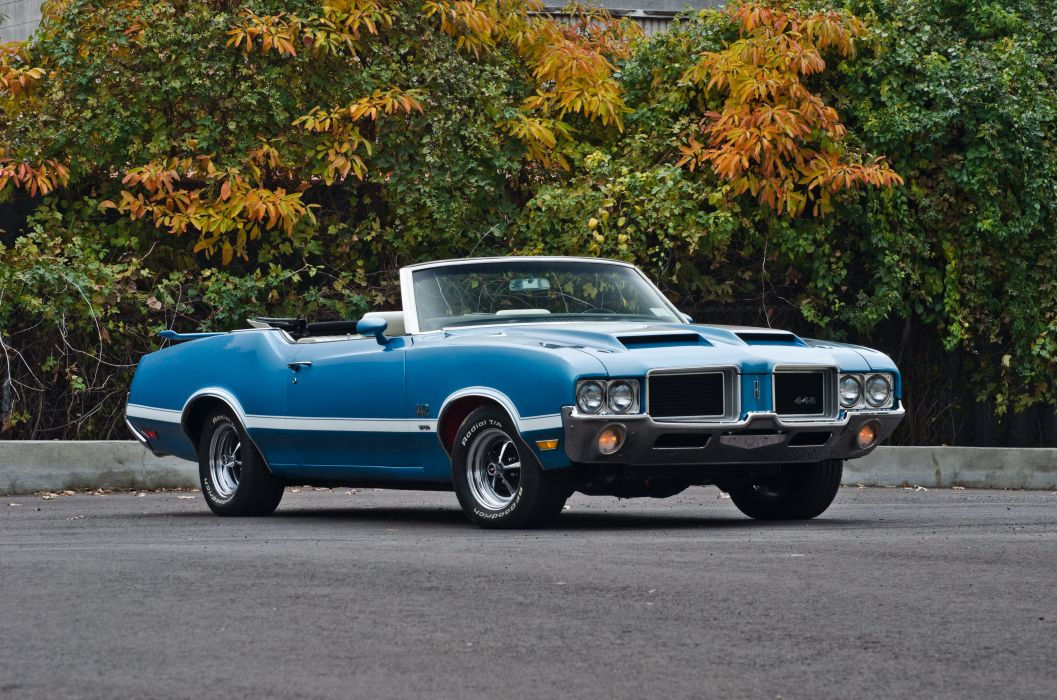 1971 Oldsmobile 442 Convertible Muscle Classic USA 4200x2800-03 wallpaper