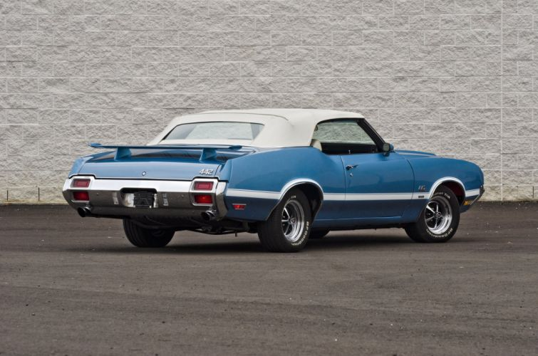 1971 Oldsmobile 442 Convertible Muscle Classic USA 4200x2800-04 wallpaper