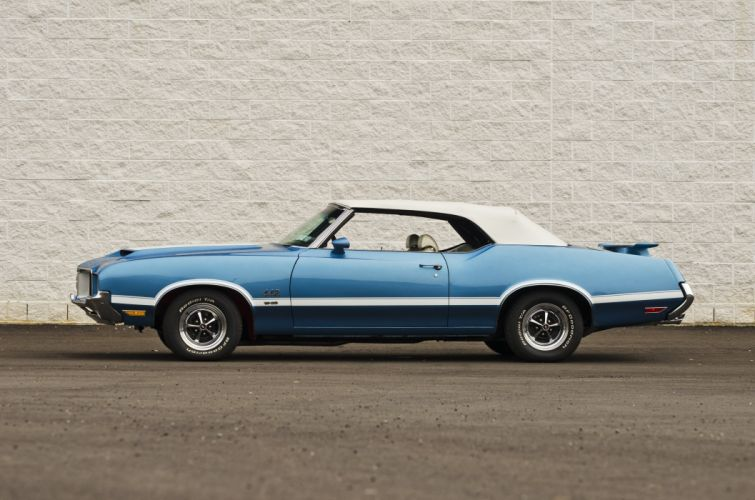 1971 Oldsmobile 442 Convertible Muscle Classic USA 4200x2800-05 wallpaper