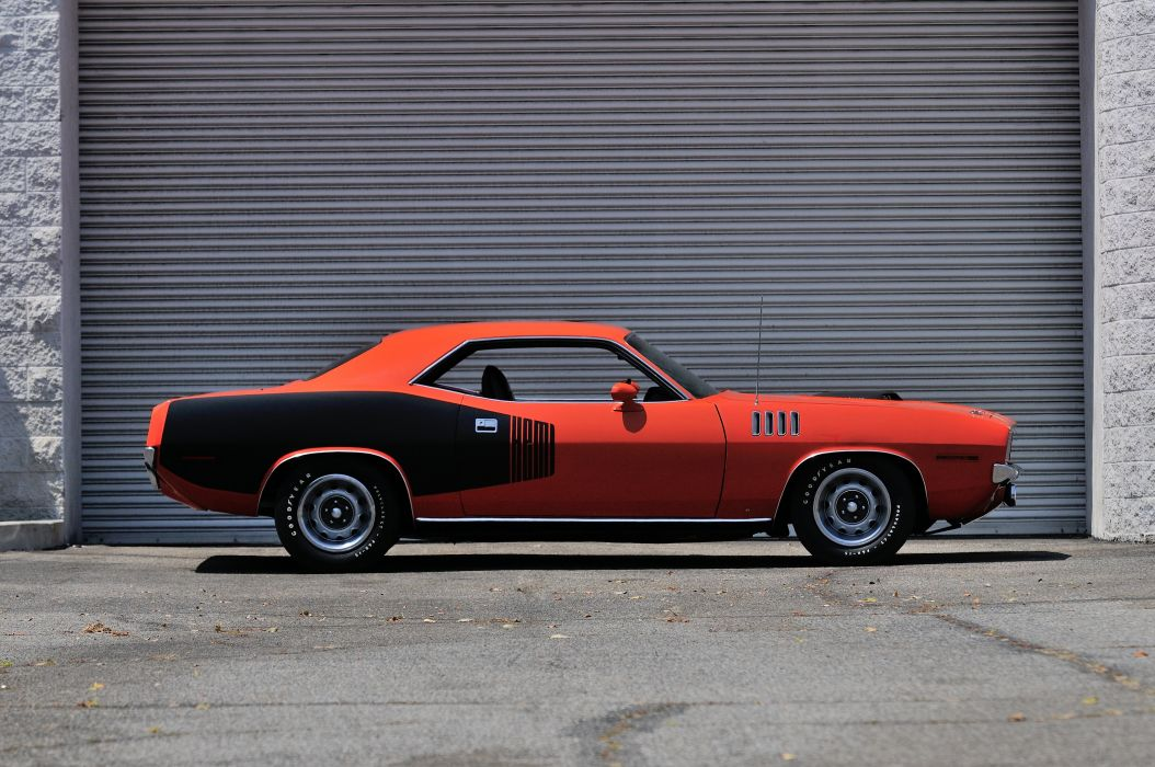 1971 Plymouth Hemi Cuda Muscle Classic Old Red USA 4200x2790-02 wallpaper