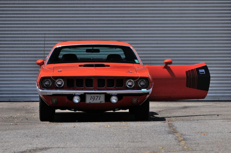 1971 Plymouth Hemi Cuda Muscle Classic Old Red USA 4200x2790-04 wallpaper