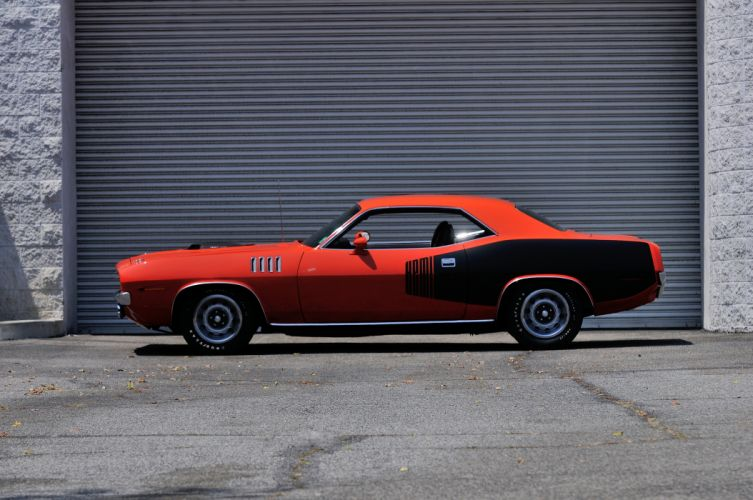 1971 Plymouth Hemi Cuda Muscle Classic Old Red USA 4200x2790-06 wallpaper