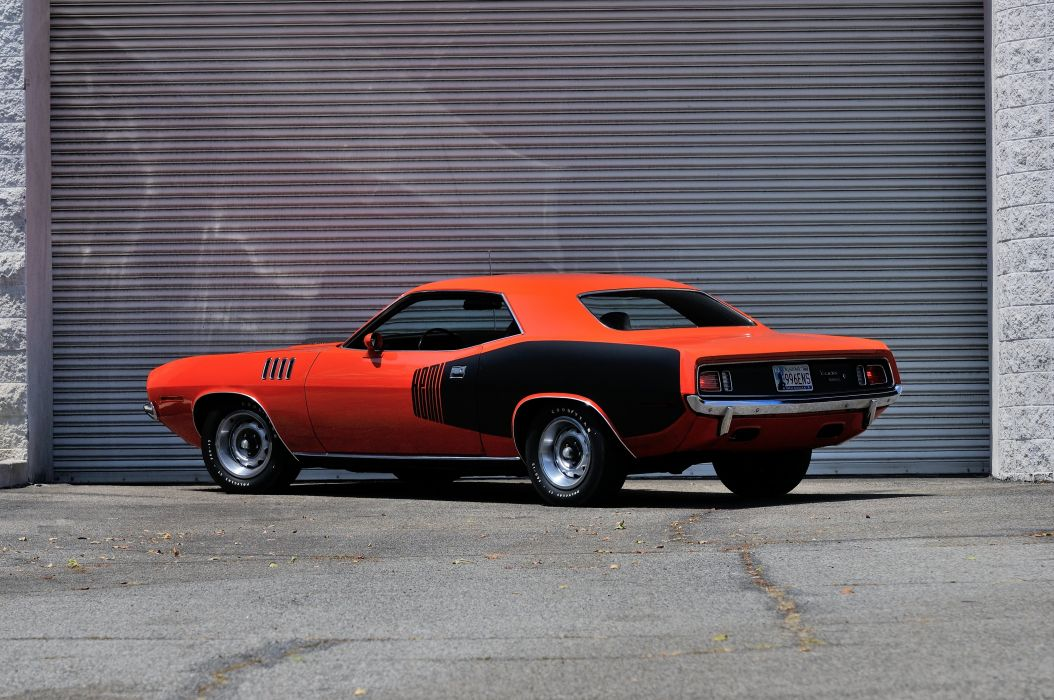 1971 Plymouth Hemi Cuda Muscle Classic Old Red USA 4200x2790-07 wallpaper