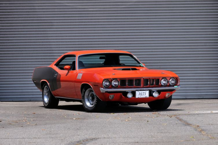 1971 Plymouth Hemi Cuda Muscle Classic Old Red USA 4200x2790-10 wallpaper