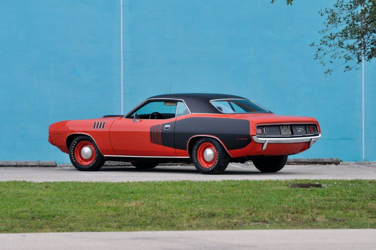 1971 Plymouth Hemi Cuda Muscle Classic Old Red USA 4200x2790-13 wallpaper
