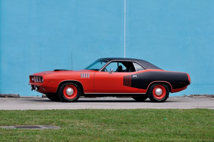 1971 Plymouth Hemi Cuda Muscle Classic Old Red USA 4200x2790-12 wallpaper