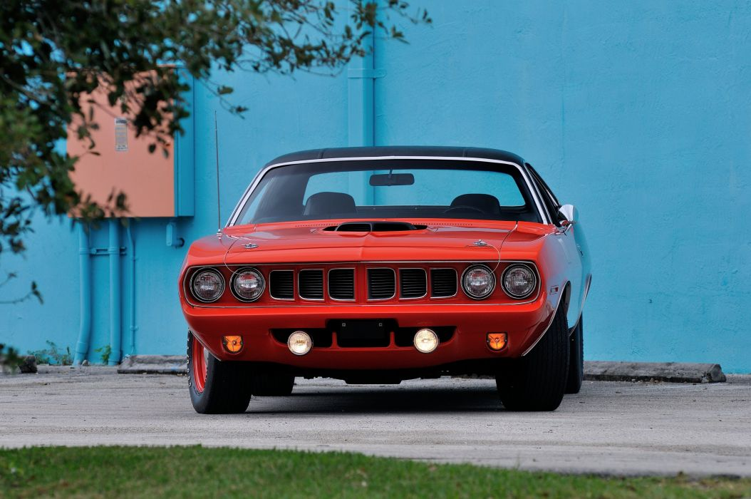 1971 Plymouth Hemi Cuda Muscle Classic Old Red USA 4200x2790-15 wallpaper