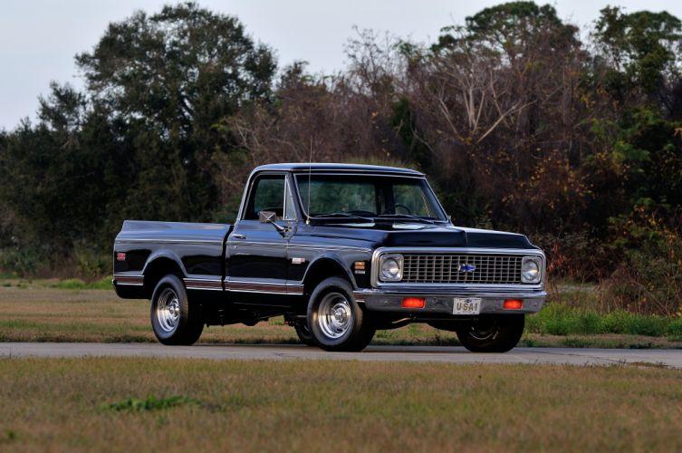 1972 Chevrolet Cheyenne C10 Super 400 Pickup Classic Black USA 4200x2790-01 wallpaper
