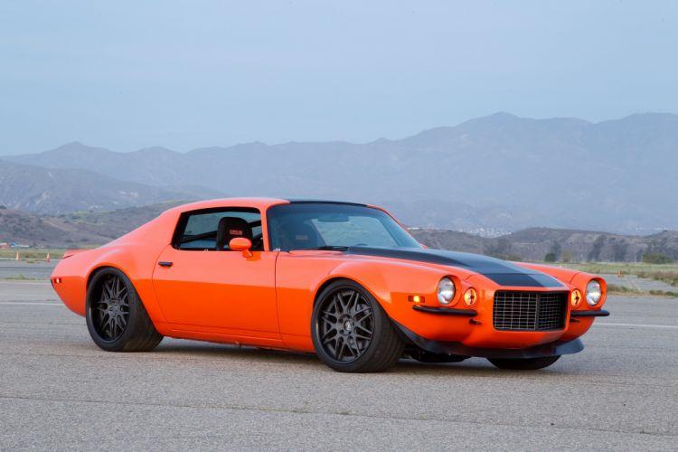 1973 Chevrolet Chevy Camaro Hot Street Rod Muscle Orange USA 4200x2800 wallpaper