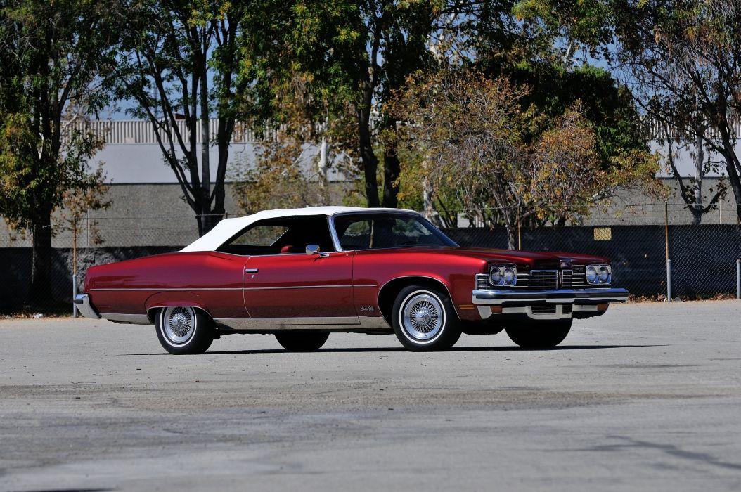 1973 Pontiac Grandville Convertible Classic Old USA 4200x2790-05 wallpaper