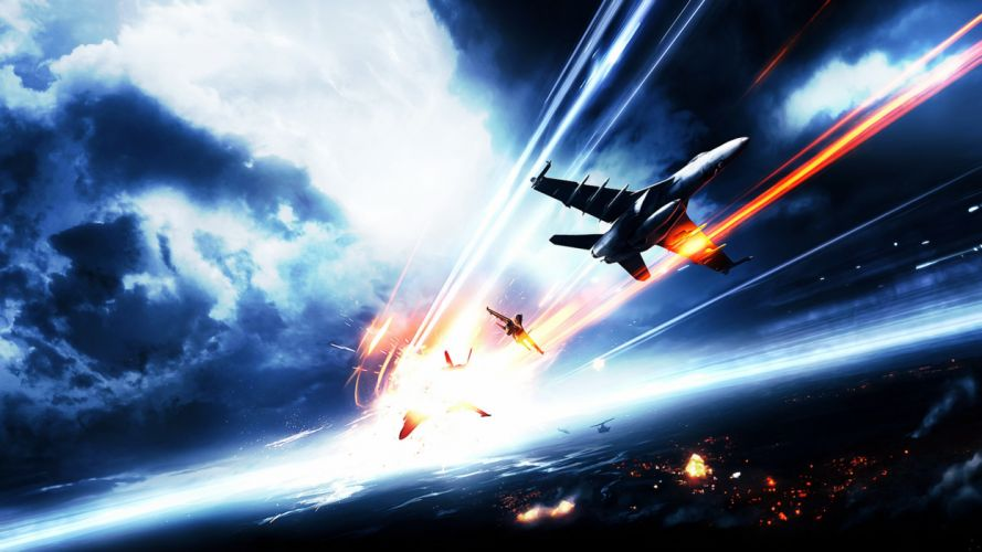 Soldier fighter war gangs bombing planes fires Battleship hardware Army Aircraft joy fun wallpaper