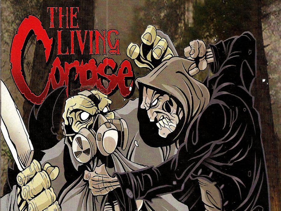 LIVING CORPSE horror comics dark evil death artwork zombie survival 1lcorpse monster reaper skull poster wallpaper