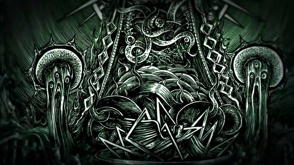 dark horror evil occult artwork art wallpaper