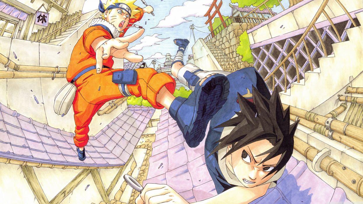 anime series naruto character sasuke fight wallpaper