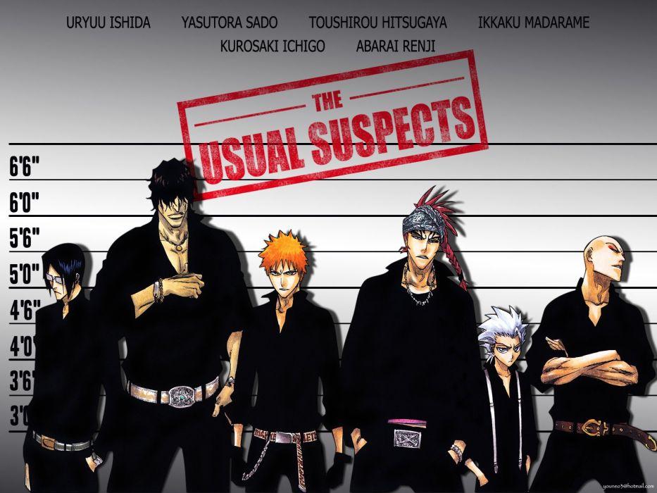 anime series bleach kurosaki ichigo cool characters orange hair ishida sado hitsugaya madarame renji wallpaper