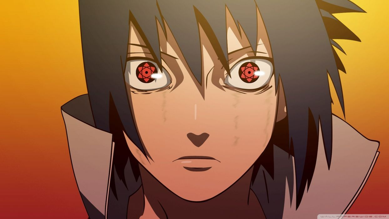 anime series naruto sasuke red eyes wallpaper