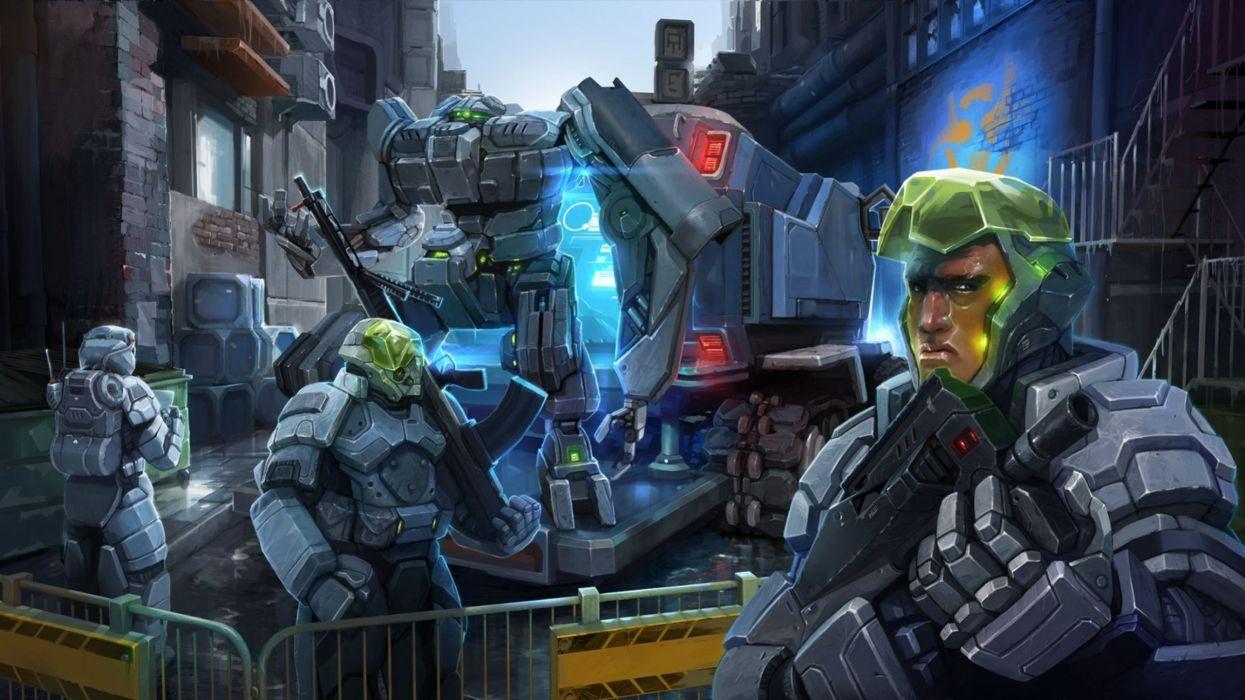 sci-fi warrior futuristic art artwork wallpaper