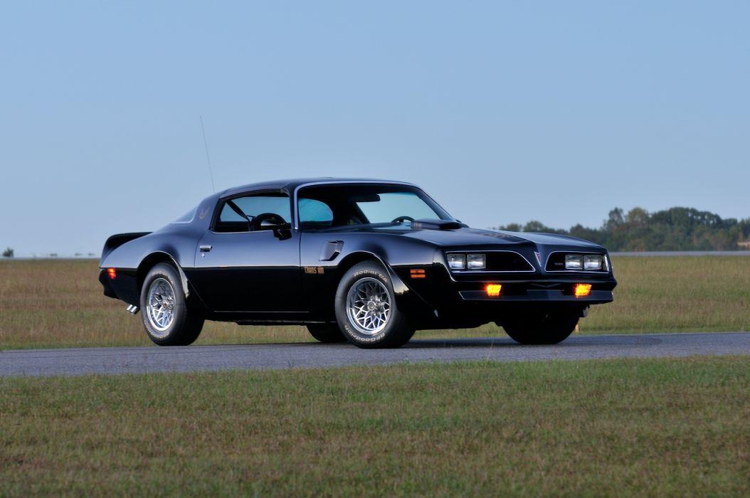 1978 Pontiac Trans Am Black Muscle Classic Old USA 4200x2790-05 wallpaper
