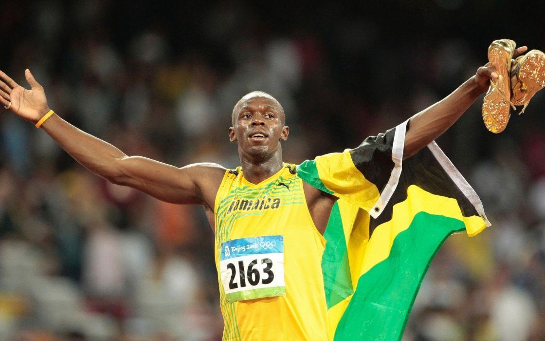 Usain Bolt Atletismo Jamaica Wallpaper