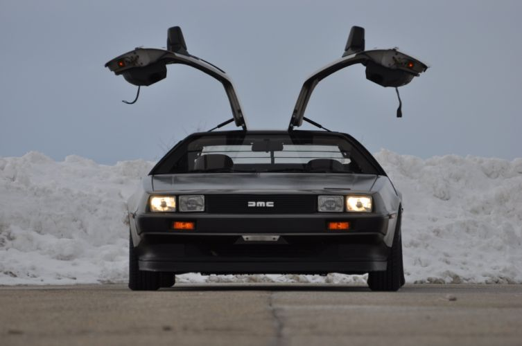 1983 Delorean DMC 12 Spot Classic Inox USA 4200x2790-07 wallpaper