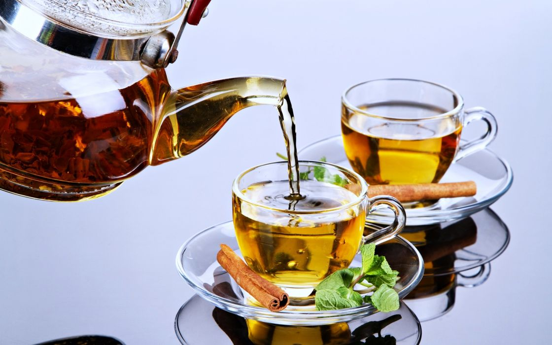 Tea drinks cups herbalism healthy delicious energy utensils table glass wallpaper