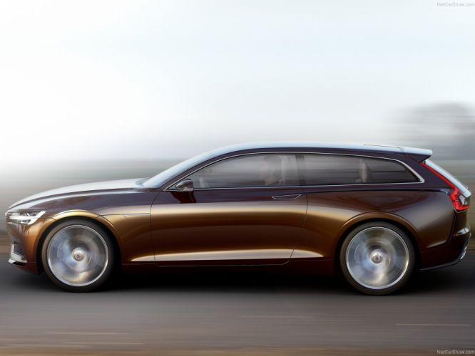 2014 Brown cars Concept estate motors road Speed volvo wagon wallpaper