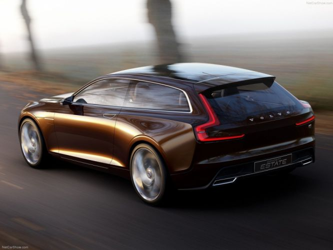 2014 Brown cars Concept estate motors road Speed volvo wagon wallpaper