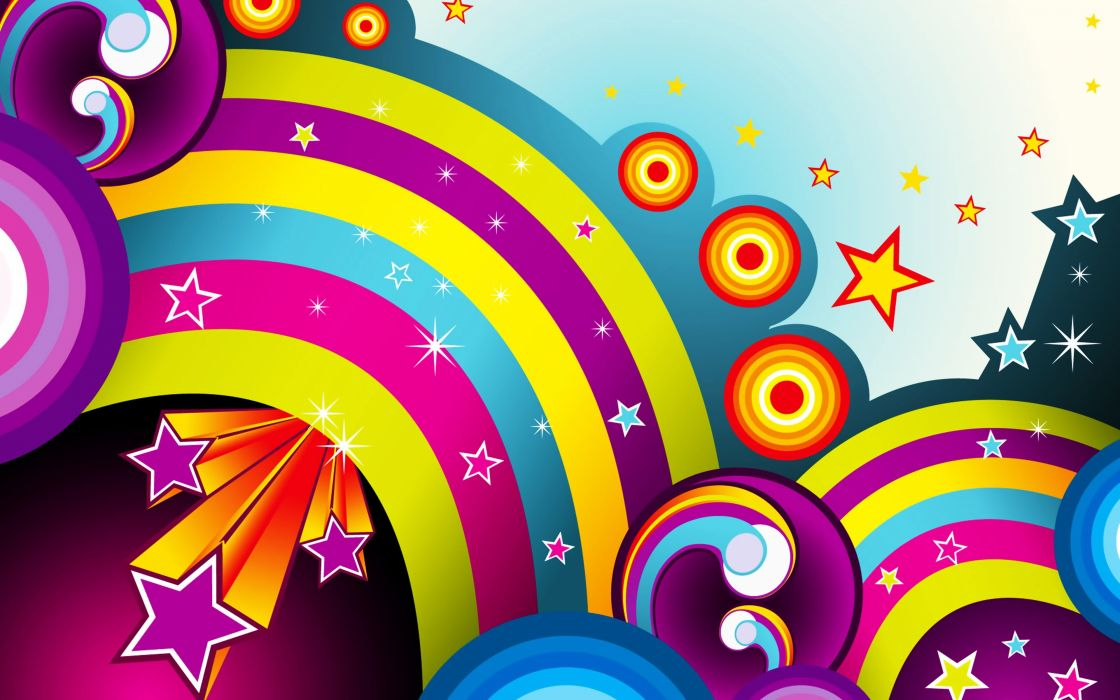 wallpapers colors colorful background rainbow stars wallpaper