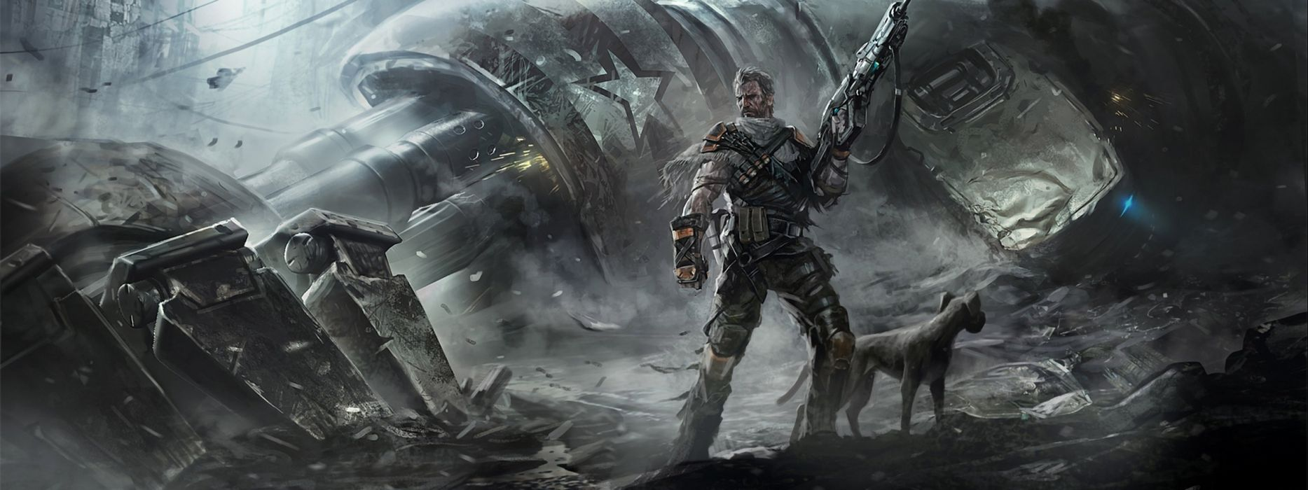 sci-fi warrior futuristic artwork art wallpaper