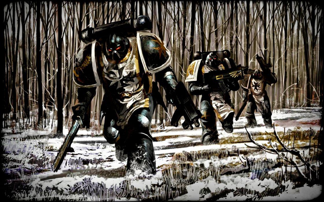 sci-fi warrior futuristic artwork art wallpaper