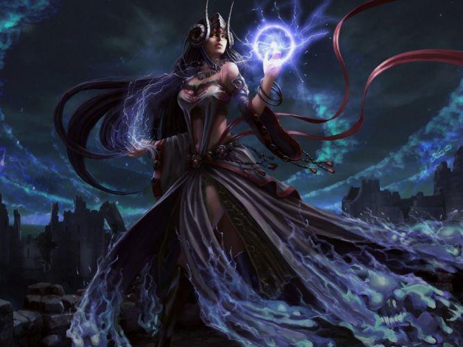 fantasy witch magic girl girls art artwork wallpaper