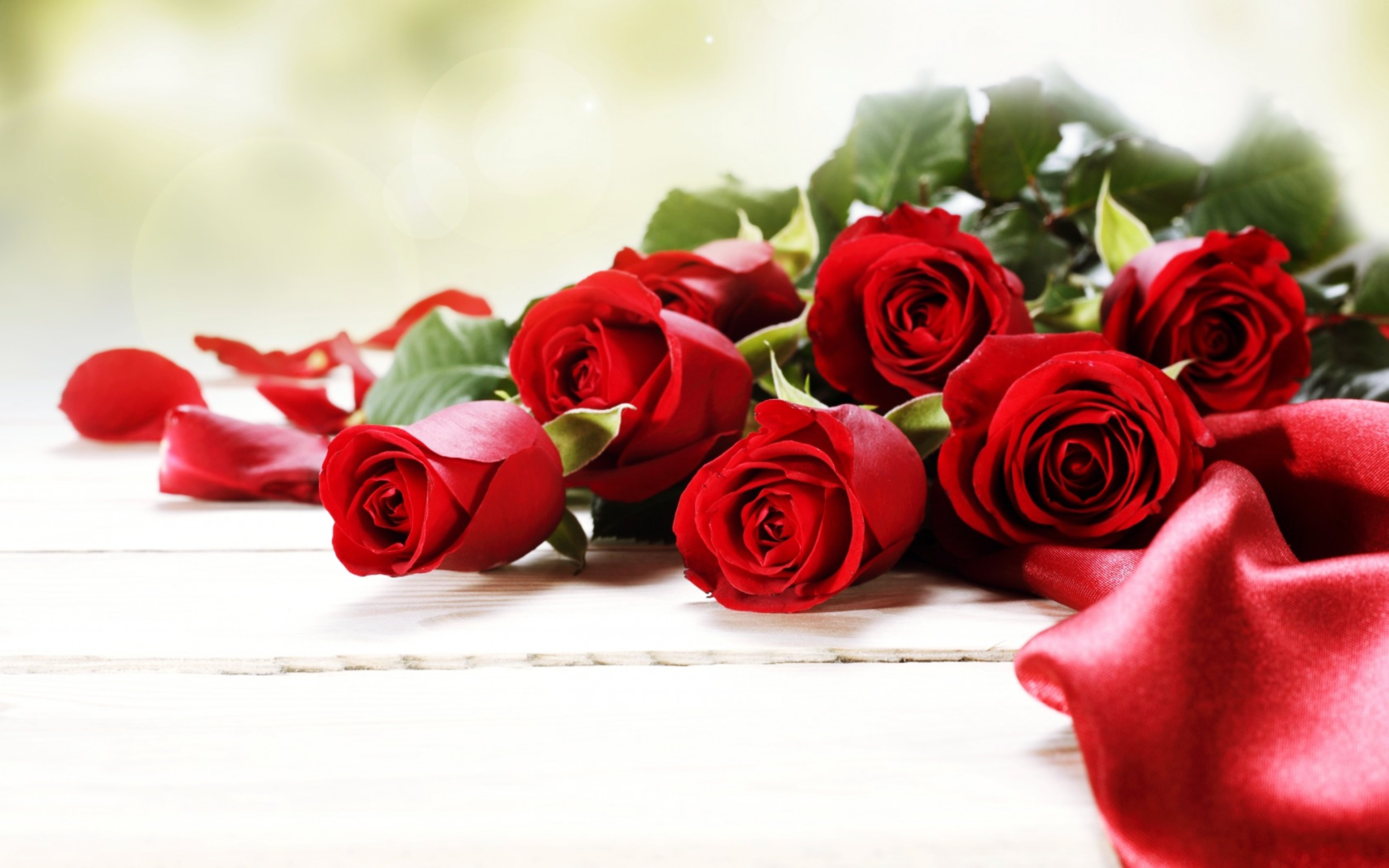 Roses Red Flowers Love Romance Emotions 4you Bouquet Spring