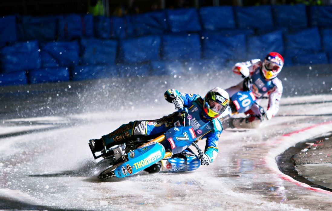 sports motorcycles ice race speed tow wallpaper