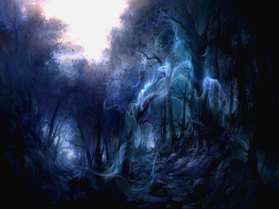 Dark ghost fantasy art artwork horror spooky creepy ...