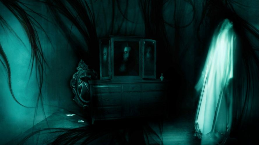 dark ghost fantasy art artwork horror spooky creepy halloween gothic wallpaper
