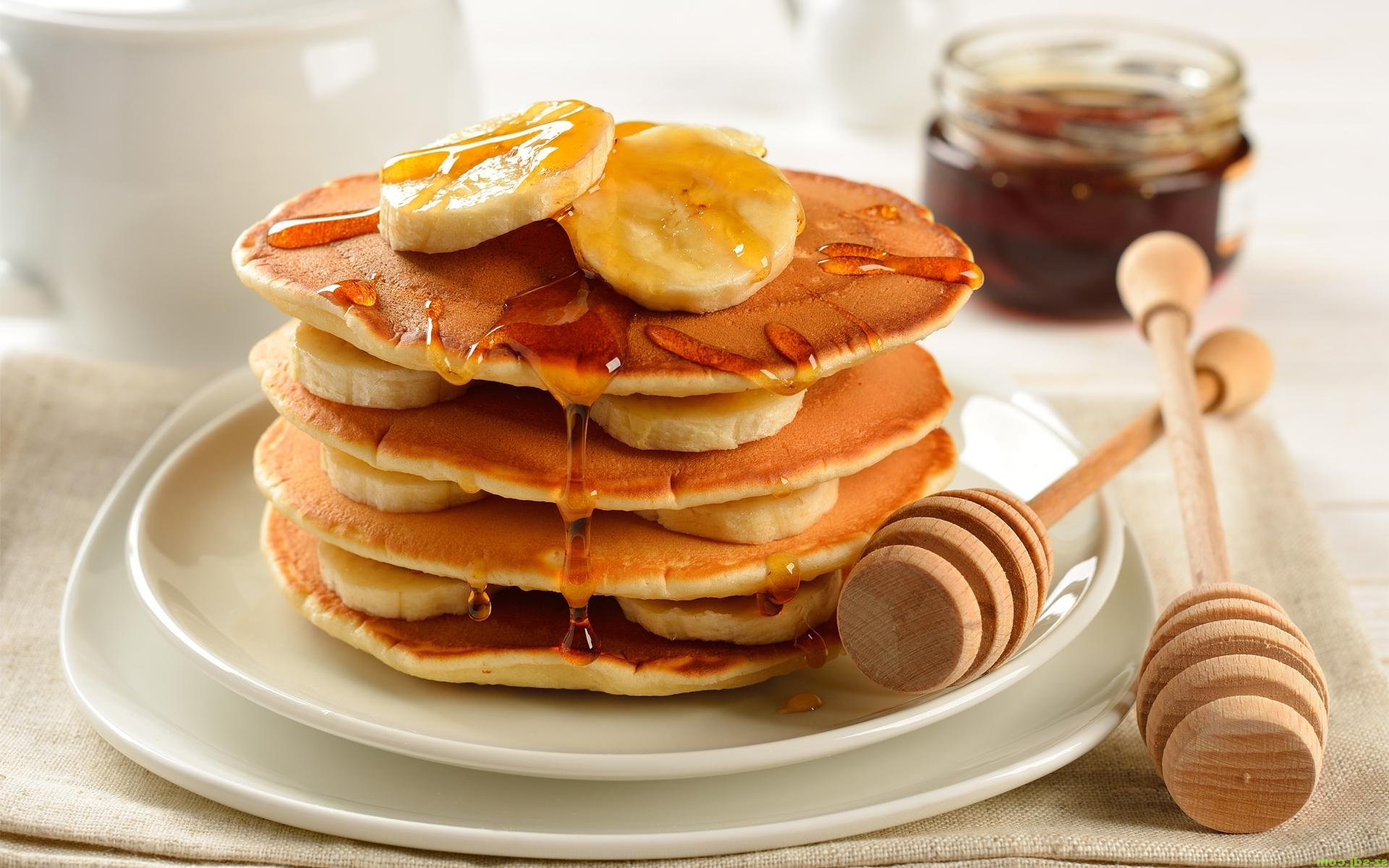 pancakes breakfast bread dough flour waffles wallpaper | 1920x1200