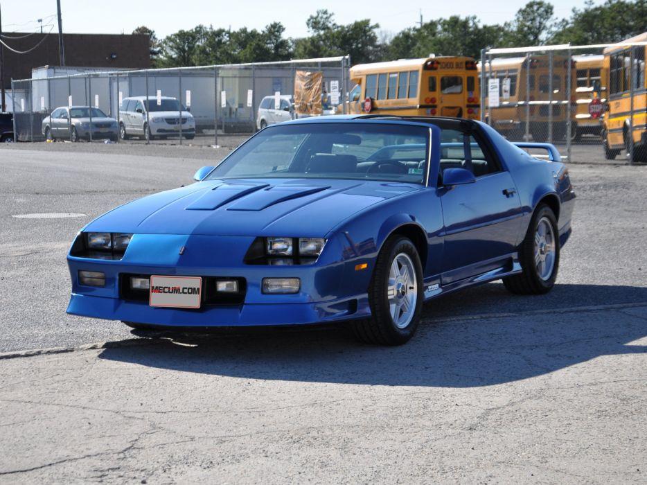 1991 Chevrolet Camaro Z28 Muscle Classic Blue USA 4200x3150-04 wallpaper
